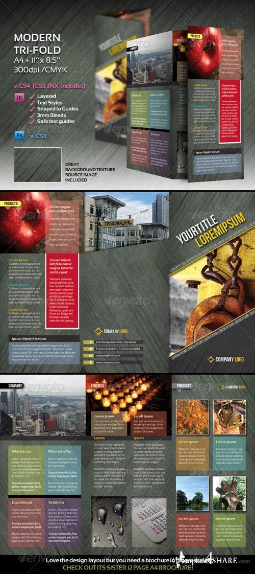 GraphicRiver Modern Tri-Fold Brochure