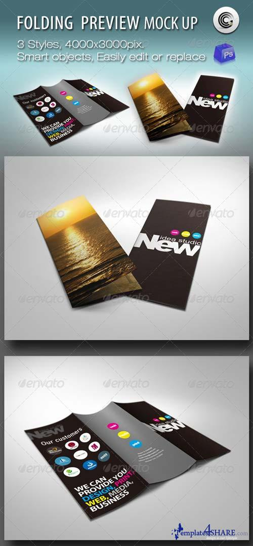 GraphicRiver Folding Booklet Preview Mock-ups