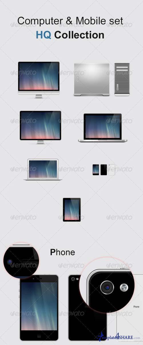GraphicRiver Computer & Mobile Set