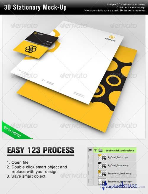 GraphicRiver 3D Stationary Mock-Up
