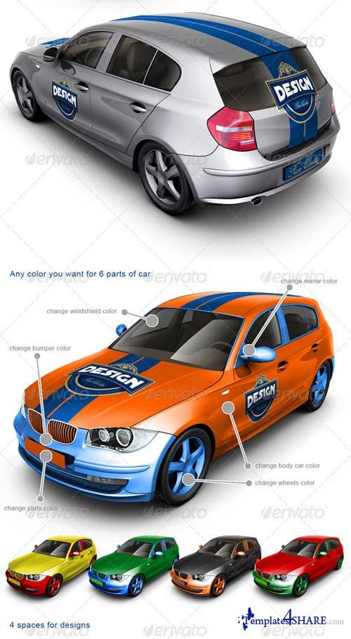 GraphicRiver Executive/Family Car Mock Up