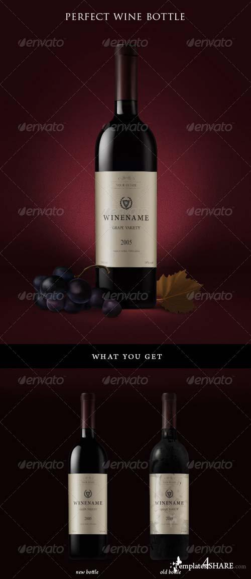 GraphicRiver Red Wine Bottles and Grapes