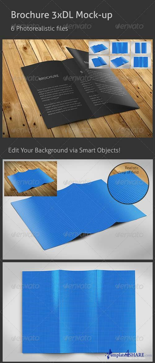 GraphicRiver Realistic 3xDL Flyer Mockup