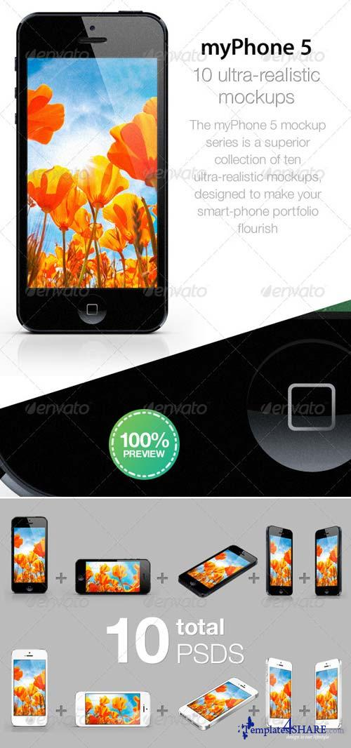 GraphicRiver myPhone5: Web/App Showcase Phone Mockup