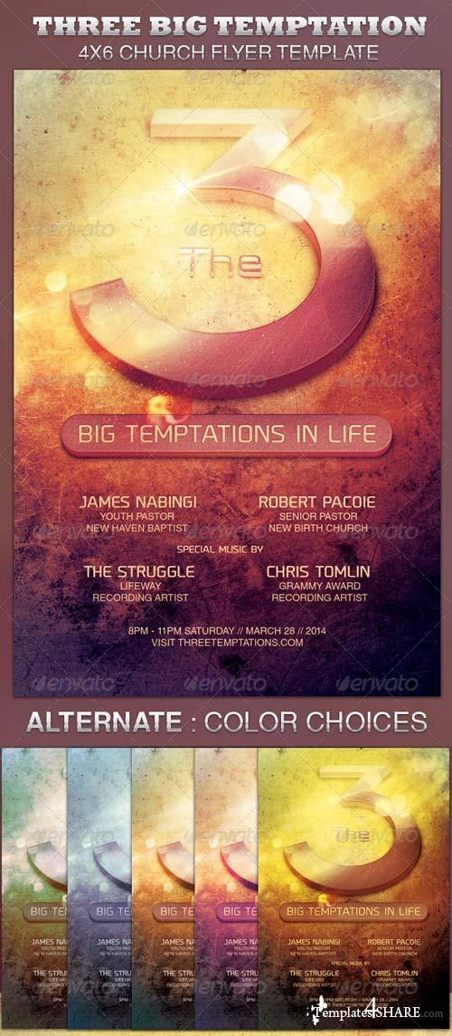 GraphicRiver The Three Big Temptations Church Flyer Template