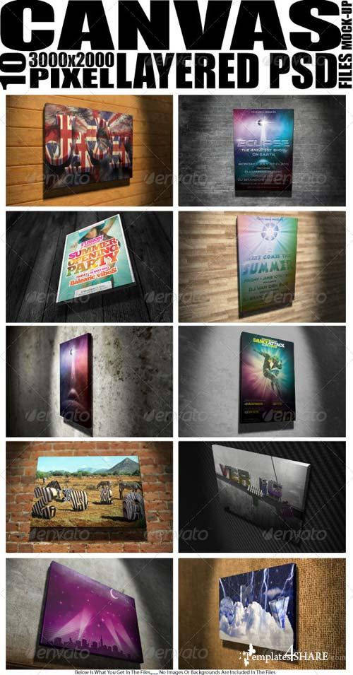 GraphicRiver Mock Up Canvas X 10