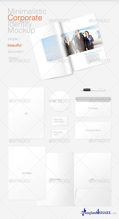 GraphicRiver Minimal Corporate Identity and Magazine Mockup