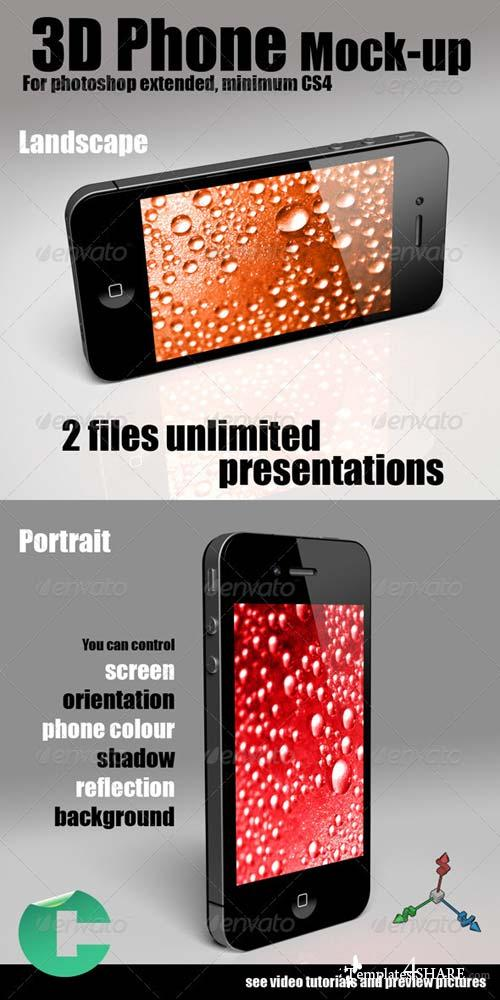 GraphicRiver 3D Object - Phone Mock-up