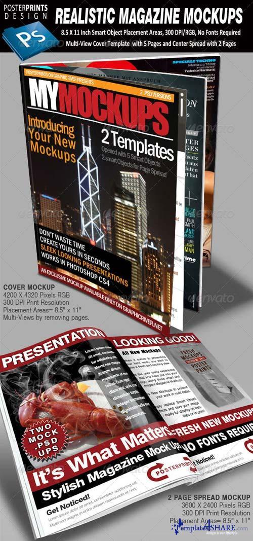 GraphicRiver 2 Realistic Magazine Mockups