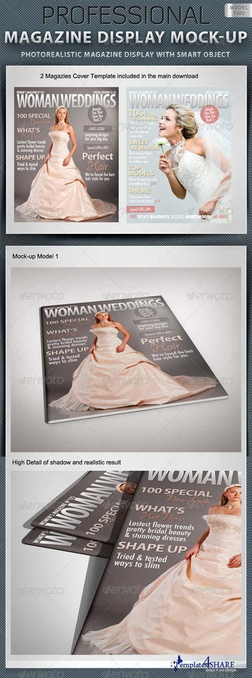 GraphicRiver Professional Magazine Display Mock-up V2
