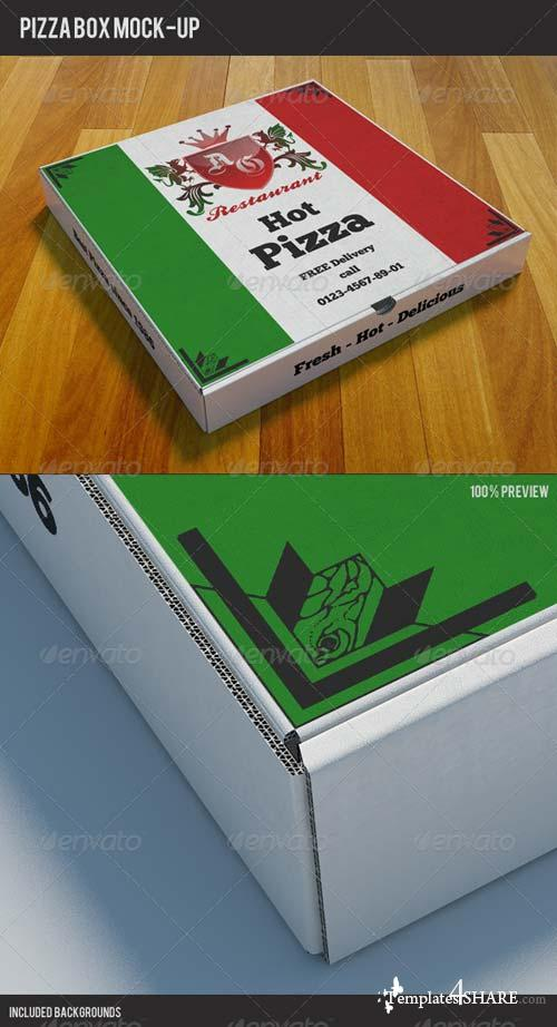 GraphicRiver Pizzabox Mock-up