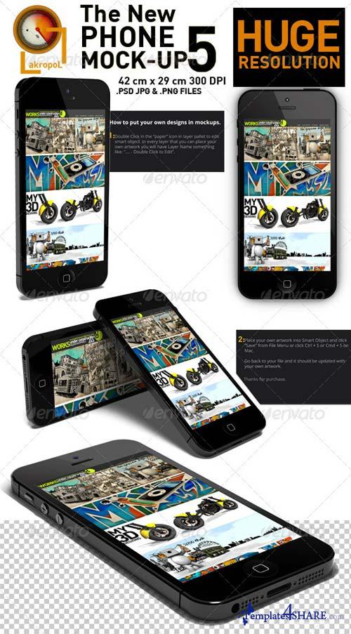 GraphicRiver New Phone 5 Mock-up