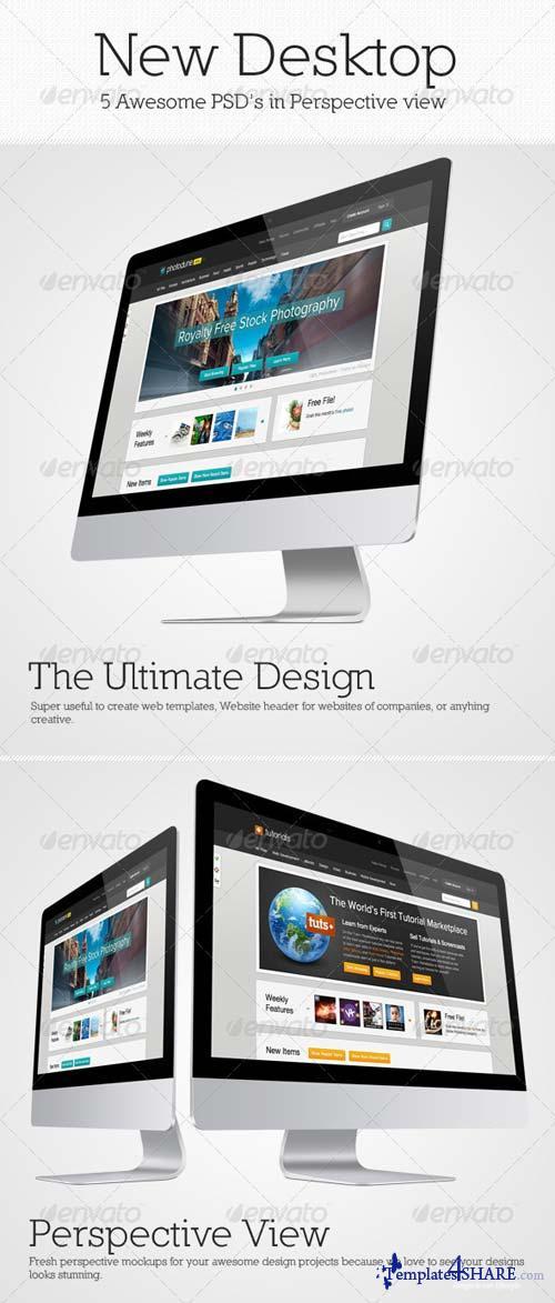 GraphicRiver New Desktop Mockup Pack