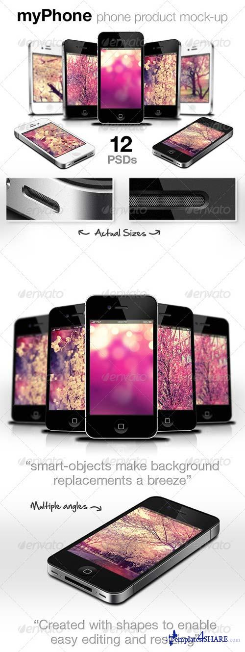 GraphicRiver myPhone: Web/App Showcase Phone Mockup