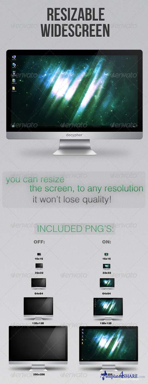 GraphicRiver Widescreen - PSD/PNG - Resizable