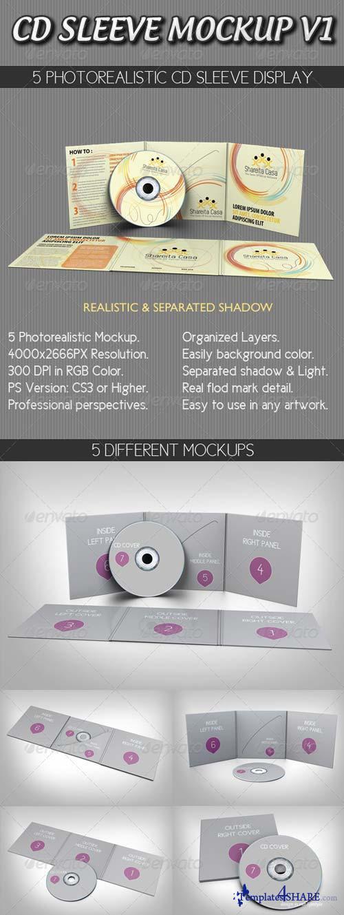 GraphicRiver CD Sleeve Mockup V1