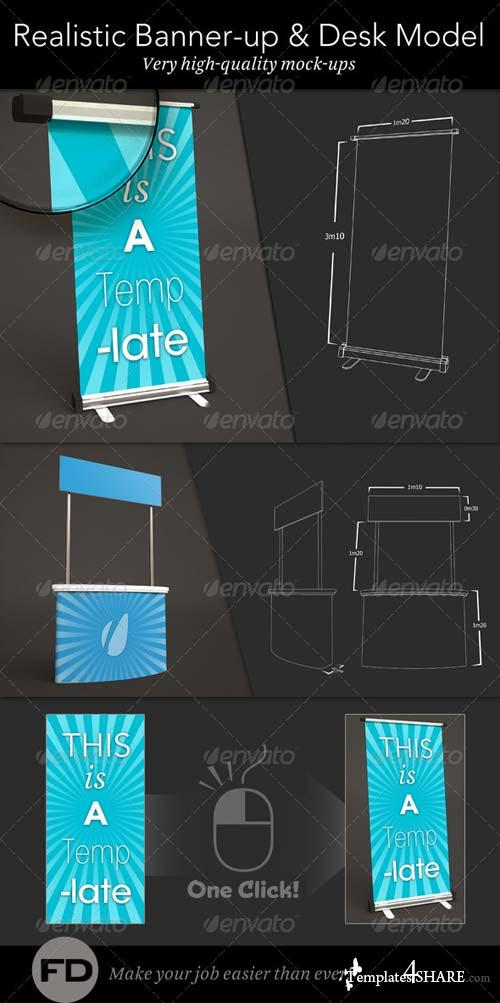 GraphicRiver Banner Up & Desk Mock-up
