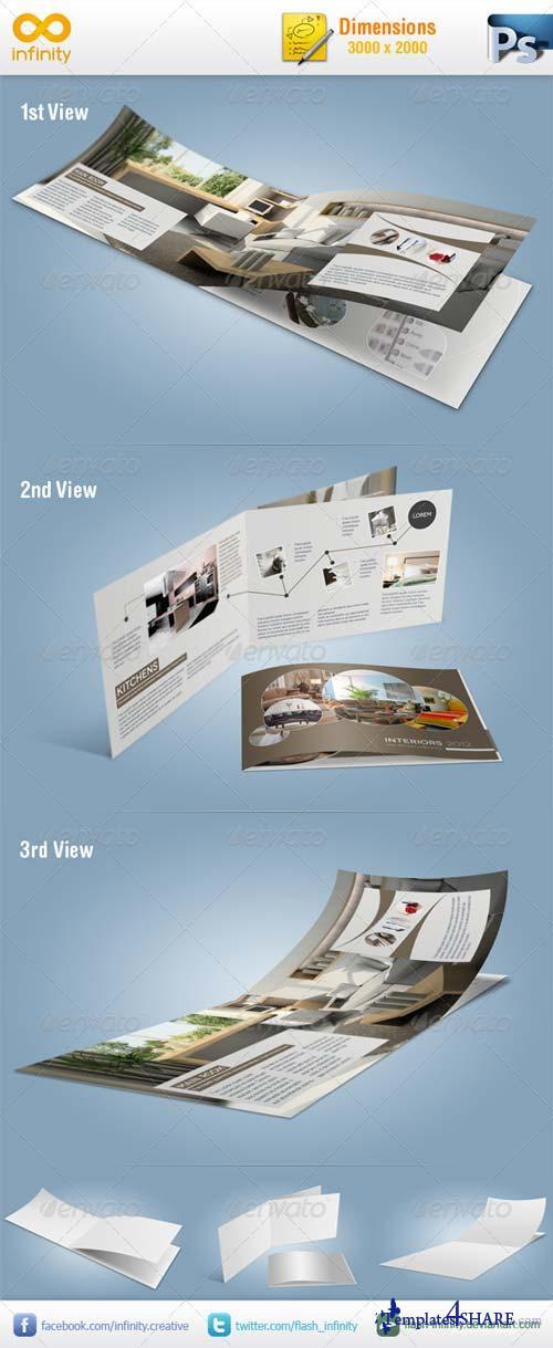 GraphicRiver A5 Brochure Mockup