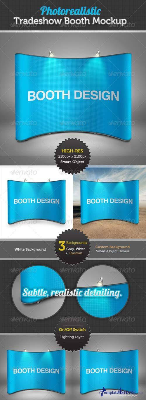 GraphicRiver Tradeshow Display Booth Mockup