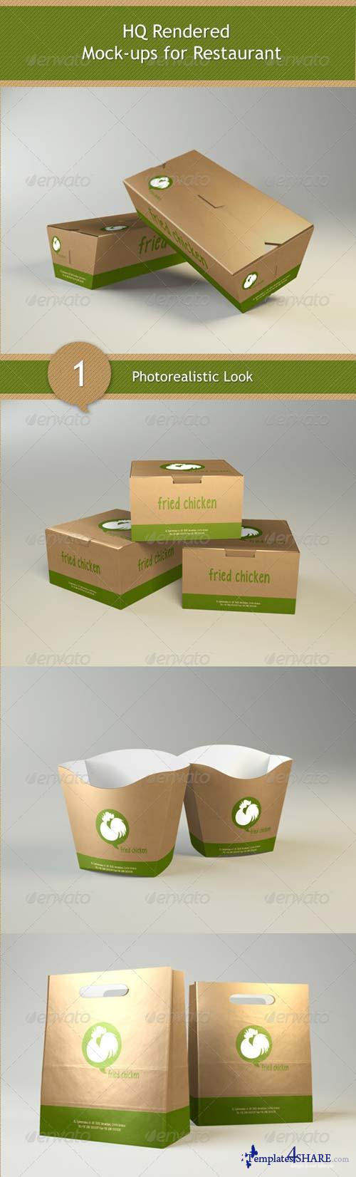 GraphicRiver Mock-ups for Restaurant