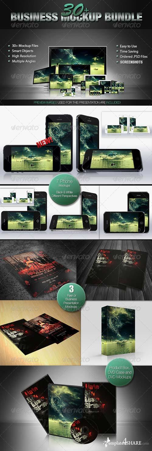 GraphicRiver 30+ Mockup Bundle