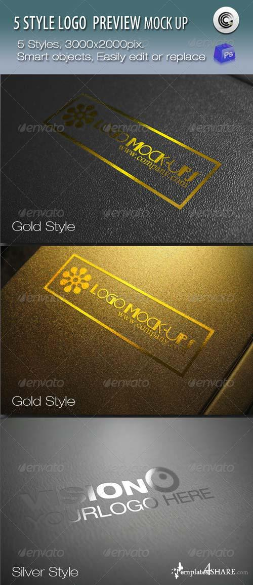 GraphicRiver 5 Styles Logo Preview Mock-ups
