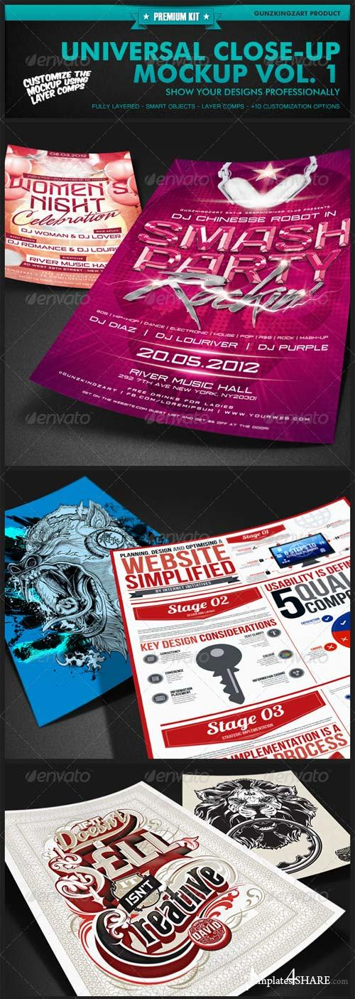 GraphicRiver Universal Closeup Mockup Vol. 1 - Premium Kit