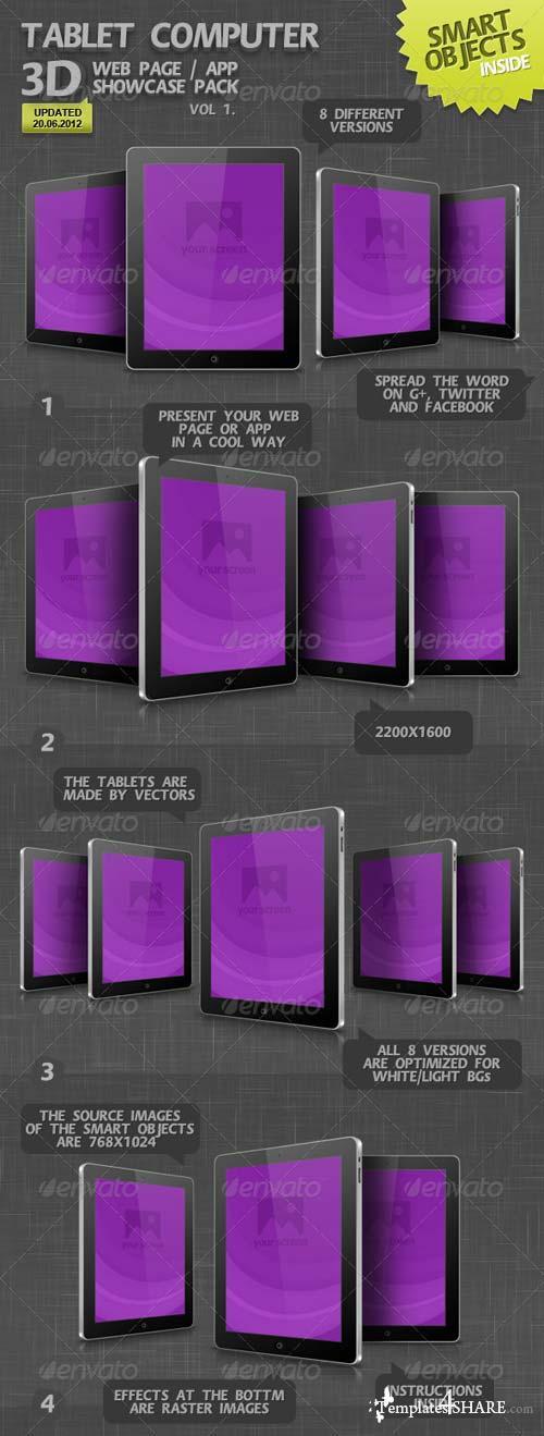 GraphicRiver Tablet Computer 3D Web Page / App Showcase Vol.1