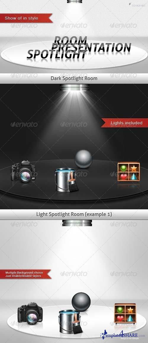 GraphicRiver Spotlight Presentation Room