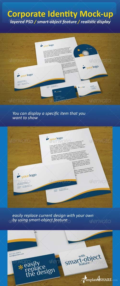GraphicRiver Realistic Corporate Identity Mock-Up