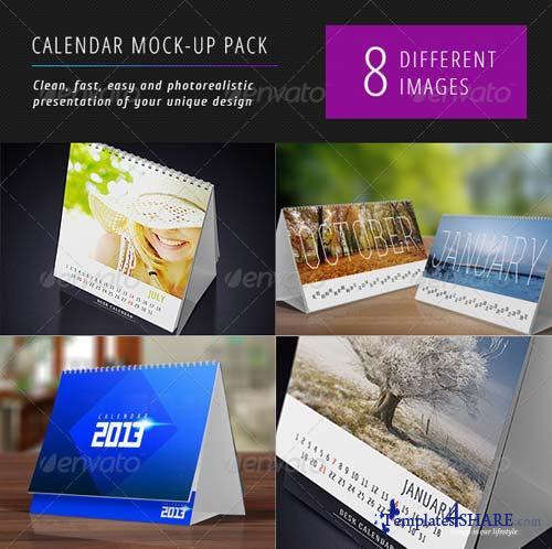 GraphicRiver Desk Calendars Mock-Up