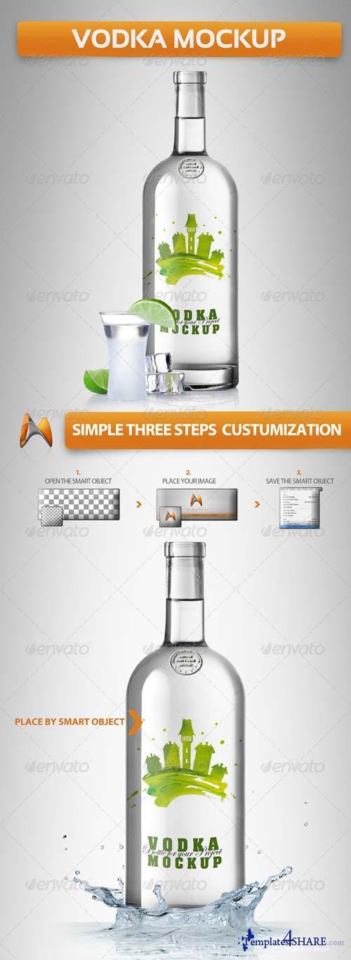 GraphicRiver Vodka Mockup