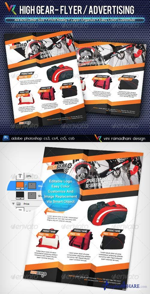 GraphicRiver High Gear Flyer or Advertising