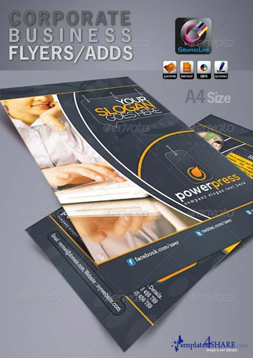 GraphicRiver Power Press Corporate Business Flyers/Adds