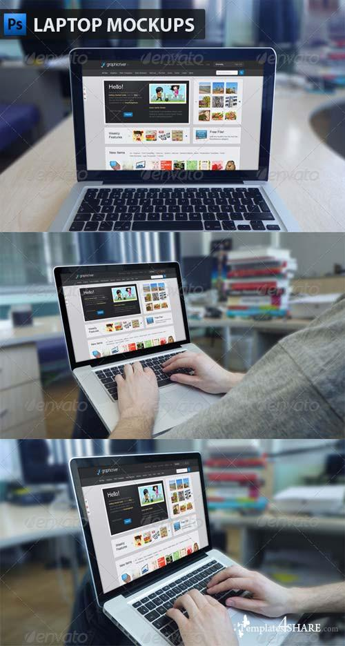 GraphicRiver Laptop Mockups