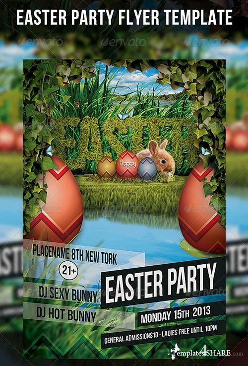 GraphicRiver Easter Party Flyer Template