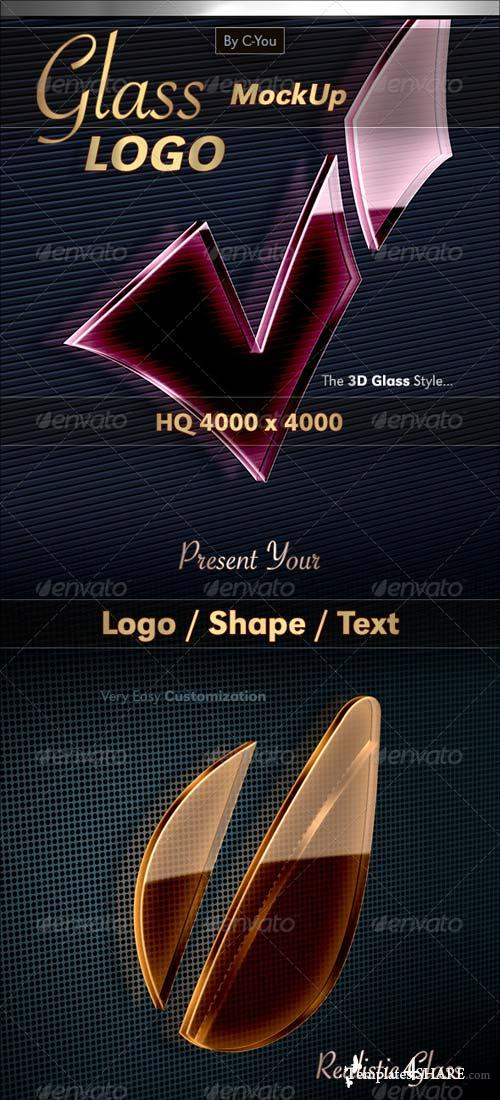GraphicRiver Glass Logo MockUp