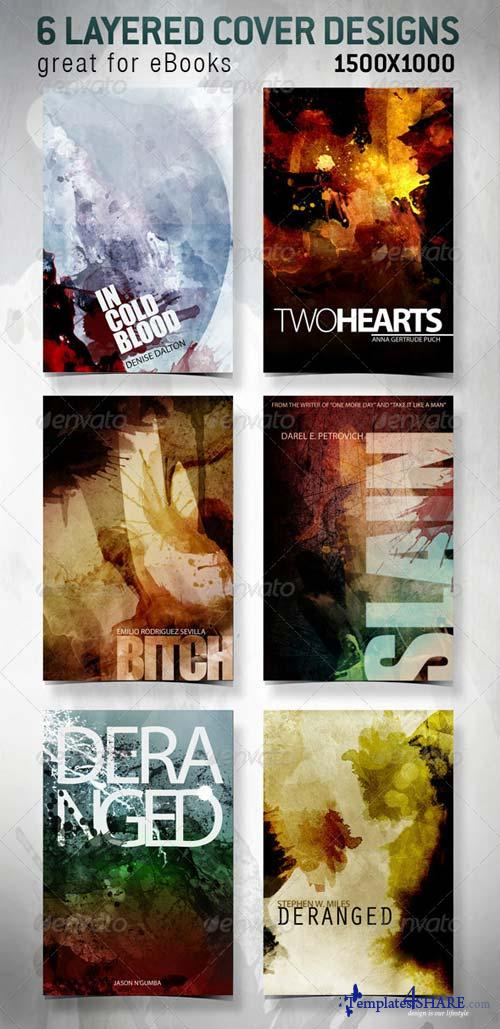 GraphicRiver 6 eBook Covers for Web