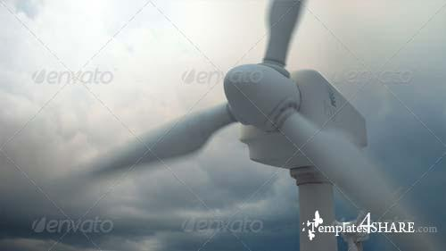 GraphicRiver Wind Turbine Illustration