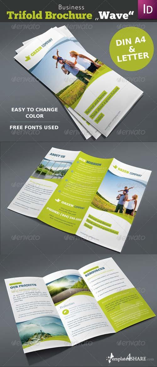 "GraphicRiver Business Trifold Brochure ""Wave"""
