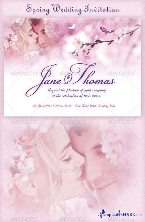 GraphicRiver Spring Wedding Invitation
