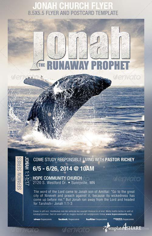 GraphicRiver Jonah Church Flyer Template
