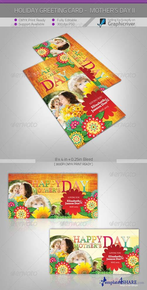 GraphicRiver Mother's Day Greeting Card - Flowers II