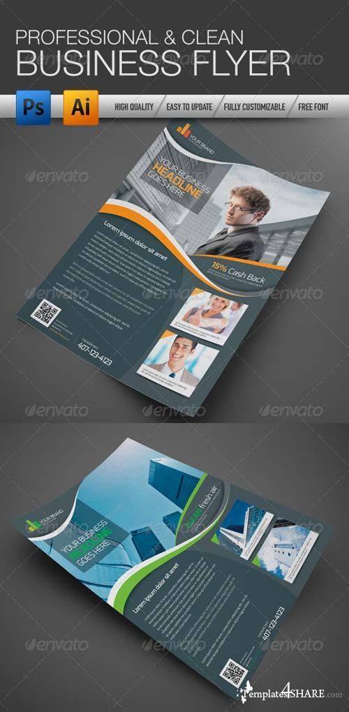 GraphicRiver Professional and Clean Business Flyer