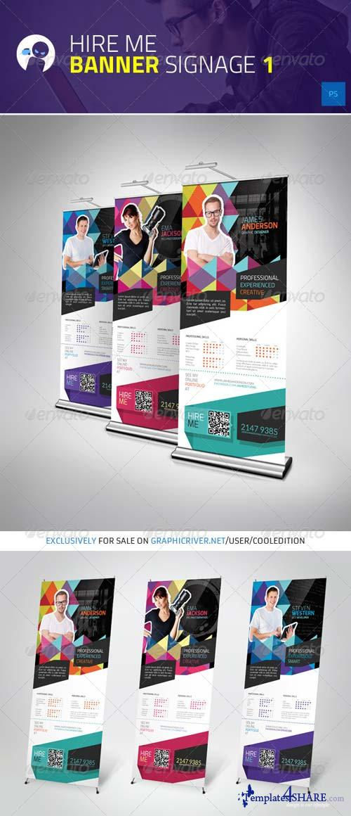GraphicRiver Hire Me - Banner Signage 1