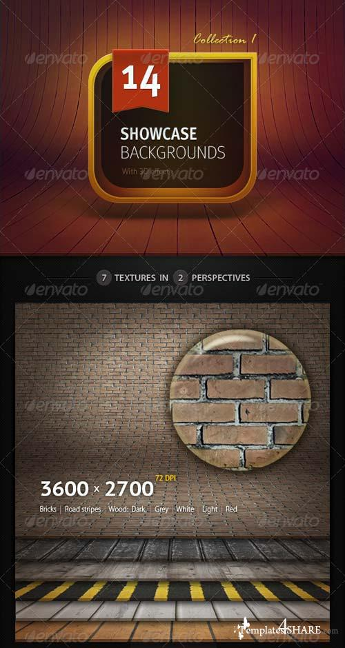 GraphicRiver 14 3D Showcase Backgrounds
