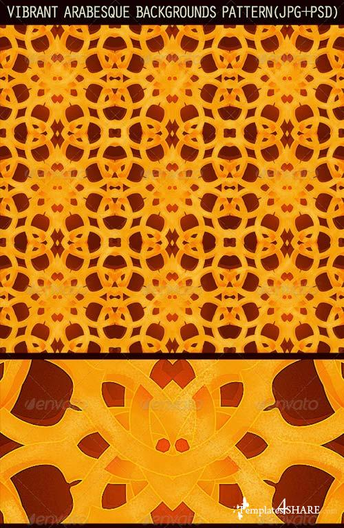 GraphicRiver 2 Vibrant Arabesque Background Patterns
