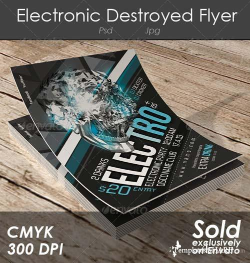 GraphicRiver Electronic Destroyed Flyer