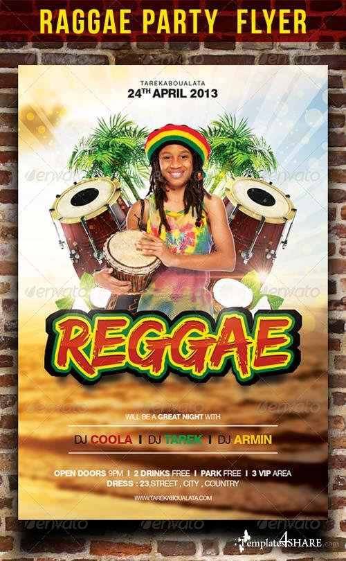 GraphicRiver Raggae Party Flyer Template