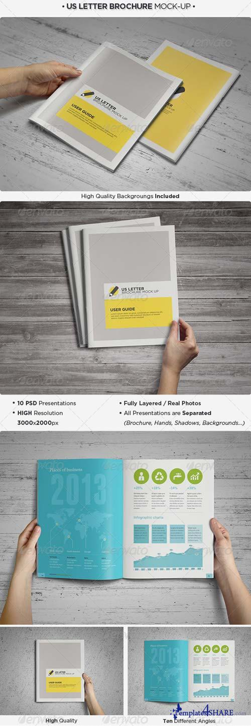 GraphicRiver US Letter Brochure / Catalog Mock-Up